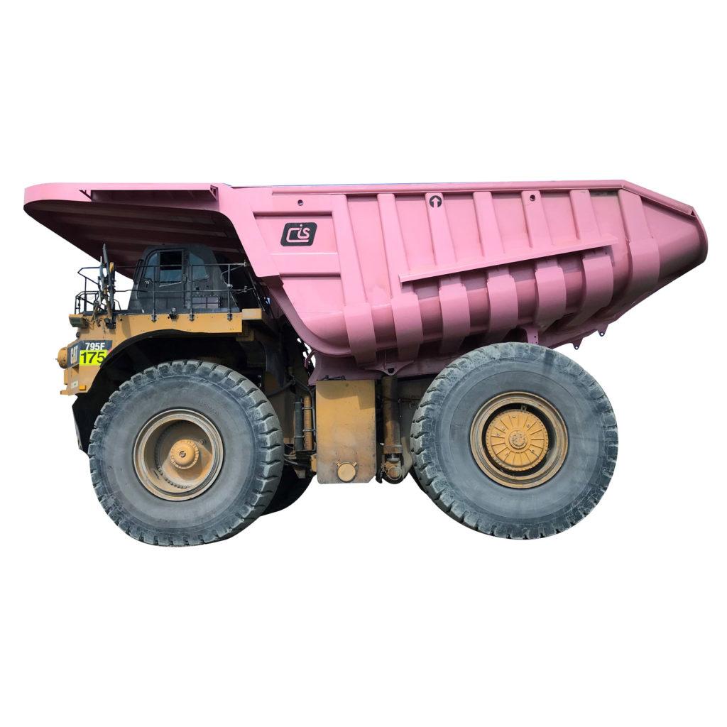 Pink Haul Truck Body on CAT Truck